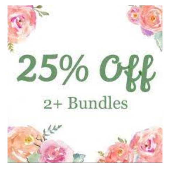 Bundle 2 or more items for 25% off